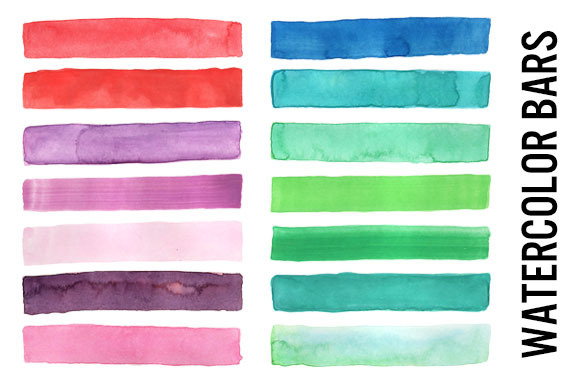 Watercolor Bars Lines Borders