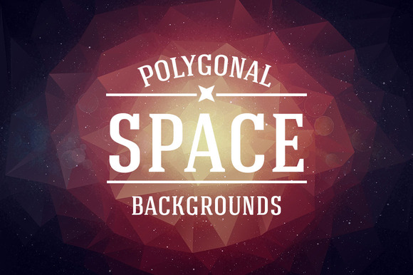 Retro Space Polygonal Backgrounds