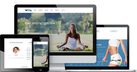 Woga Premium Yoga WordPress Theme
