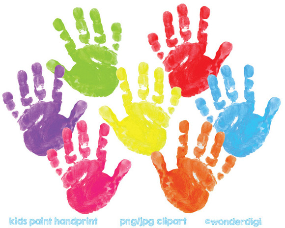 Painted Clipart Hand Prints