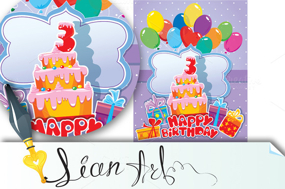 Baby Birthday Card With Balloons