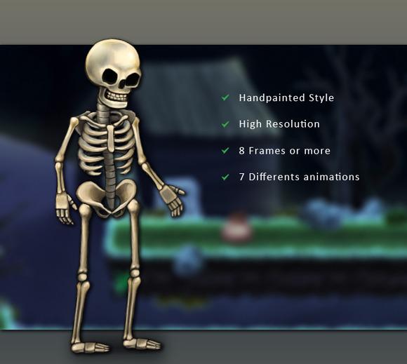 Character Spritesheet Skeleton