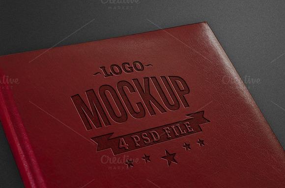 Logo Mockup Pressed Leather
