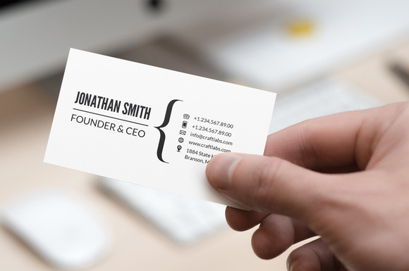 Simple Minimal Business Card 13
