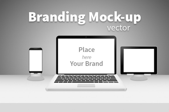 Branding Mock-up Black White
