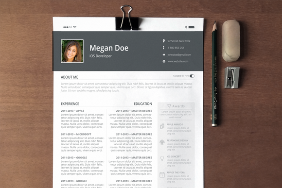 Resume Cover Letter IOS Feel