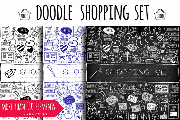 Doodle Shopping Icons