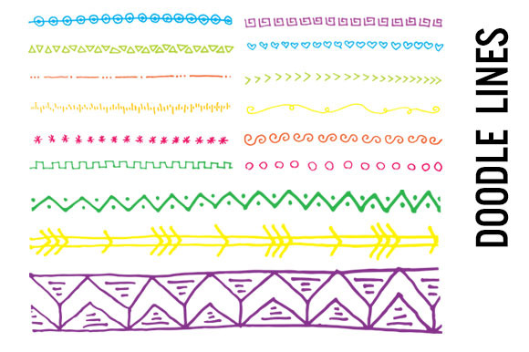 Bright Doodle Line Borders Rules