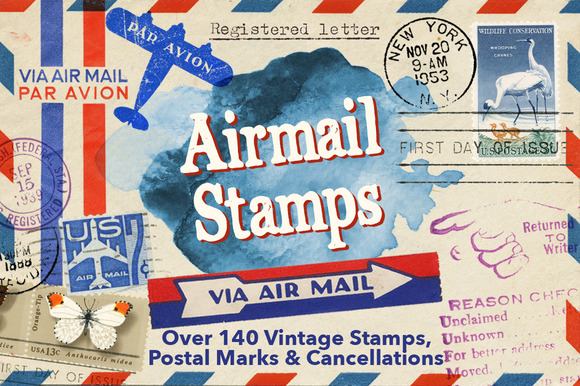 Airmail Post Kit 140 Items 50% Off