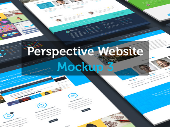 Perspective Website Mockup 3.0