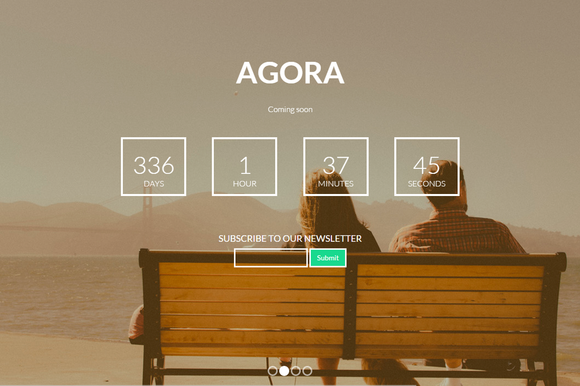 Agora Coming Soon Template