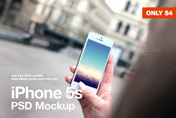 IPhone 5s PSD Mockup