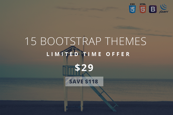 Theme Bundle 15 Bootstrap Themes