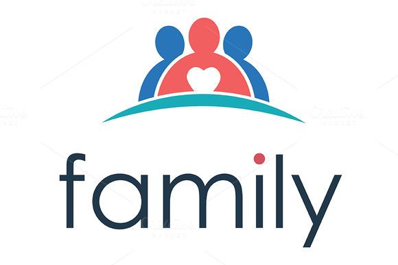 Logo Family In Heart