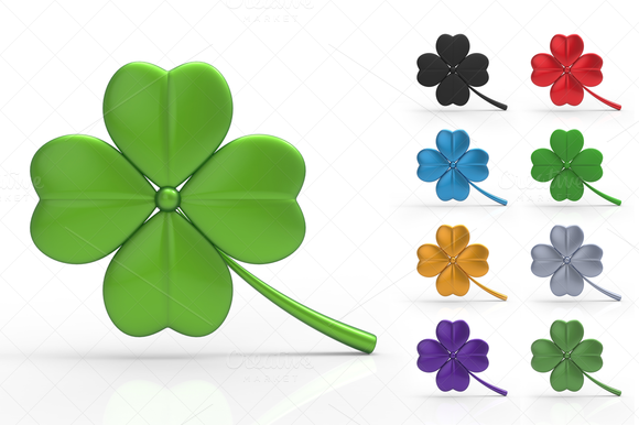 St Patrick S Day Clover 3D