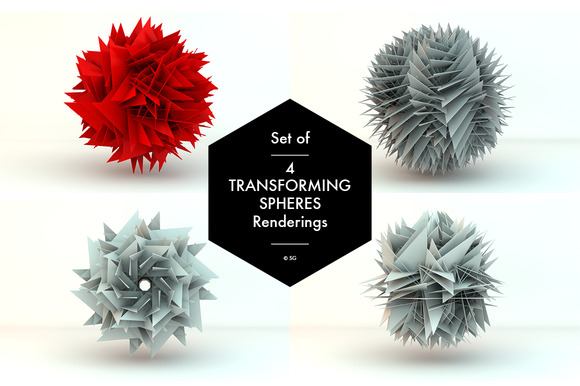 Set Of Four Transforming Spheres
