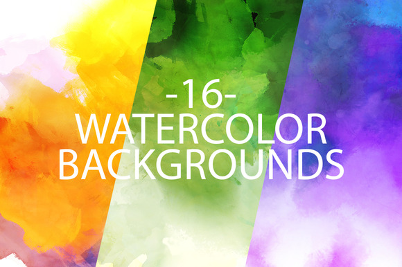 16 Watercolor Backgrounds