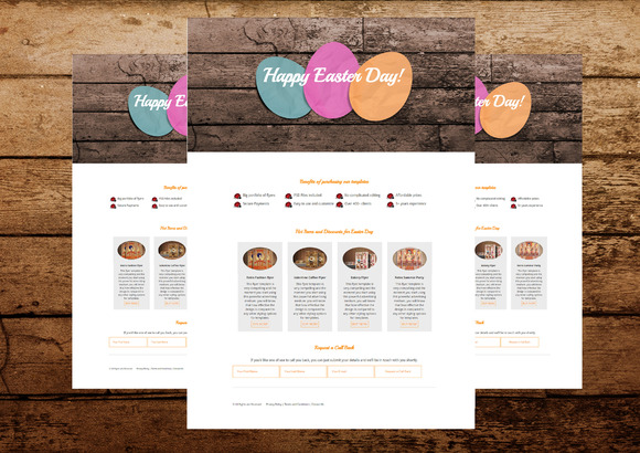 Easter Day Landing Page