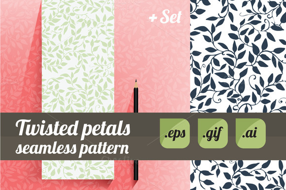 Twisted Petals Seamless Flat Design