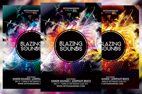 Blazing Sounds Flyer