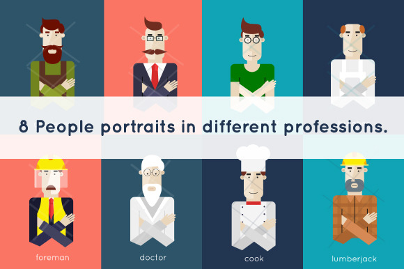 Portraits In Different Professions