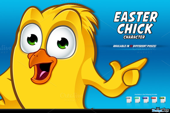 Easter Chick Cartoon Character