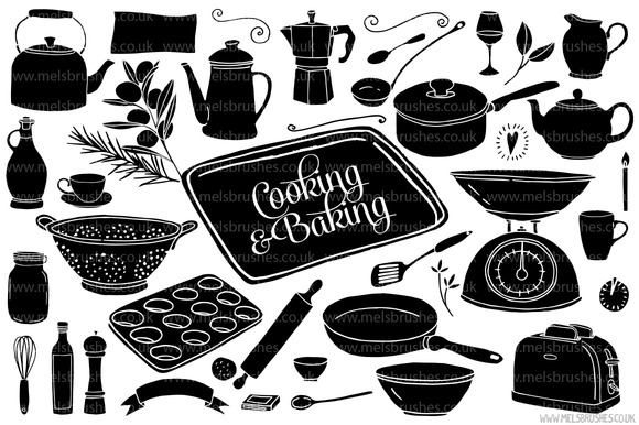 Cooking Baking Illustrations