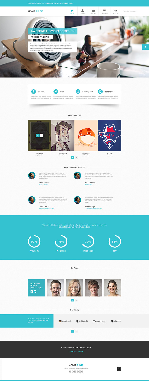 PSD Website Template Home.Page