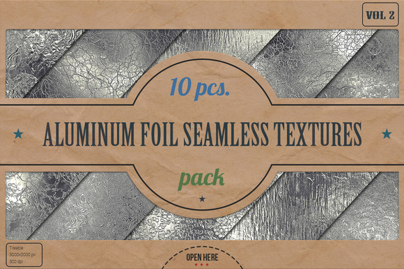 Aluminum Foil HD Textures Pack V.2