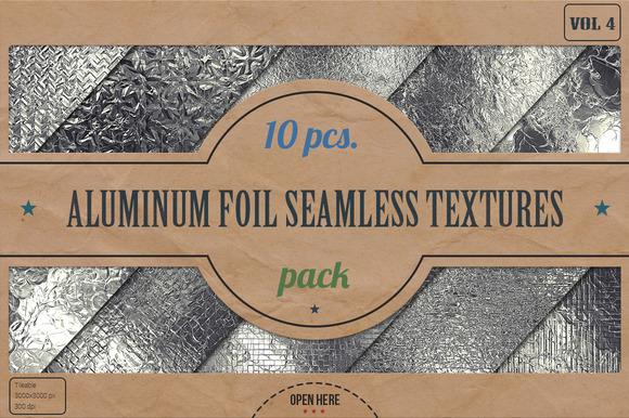 Aluminum Foil HD Textures Pack V.4