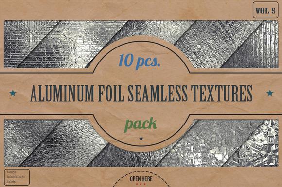 Aluminum Foil HD Textures Pack V.5