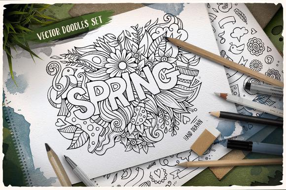 Spring Doodles Pack