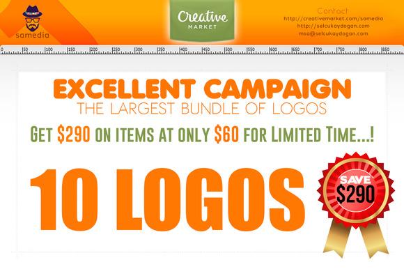 10 Logos Template $230 OFF
