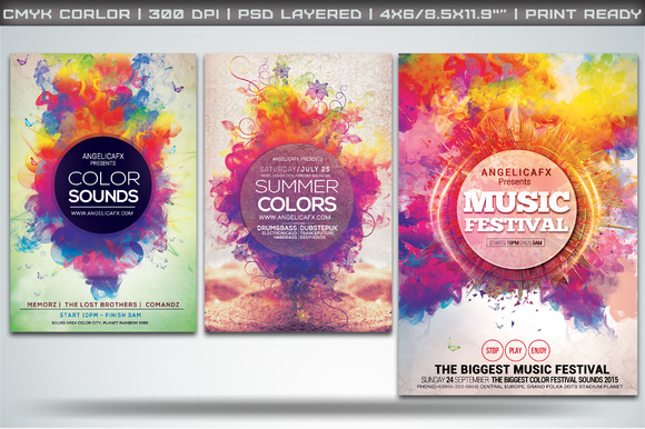 Colorful Flyers Bundle Vol 1