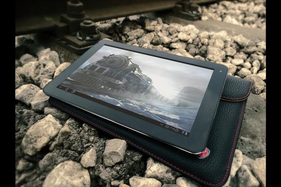 Black White Tasblet On Railway