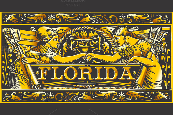 Florida Black Gold Label Plaque