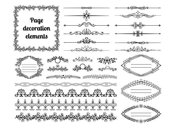 Dividers Vignettes Scrolls Frames