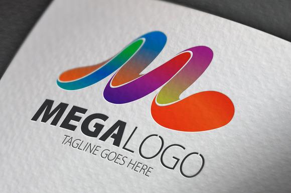 Mega M Letter Logo