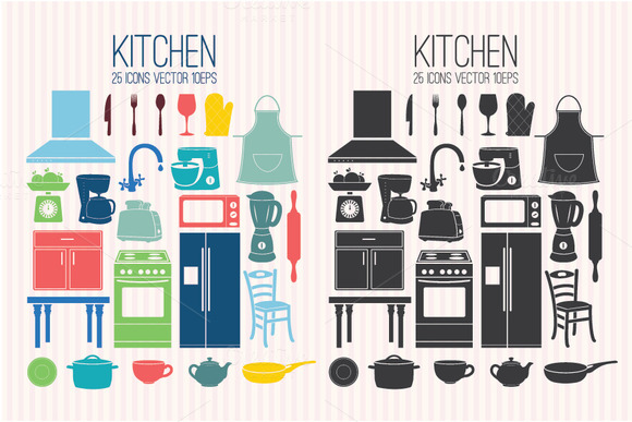 Set Icons Kitchen