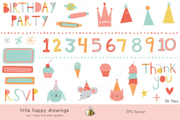 Bright Birthday Vector File