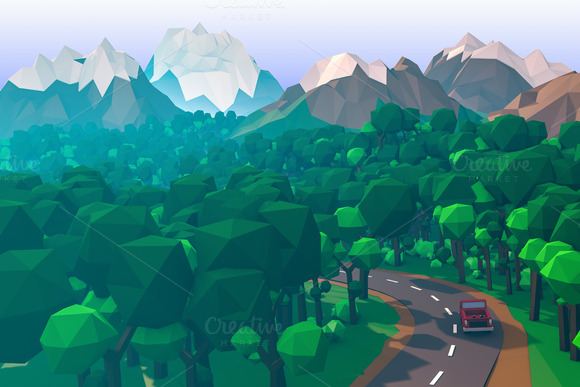 Low Poly 10 Super Rad Landscapes