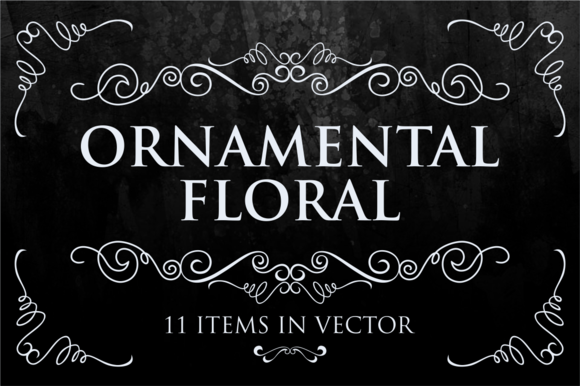 11 Ornamental Floral Vector