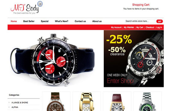 MT EODY WATCHES MAGENTO THEME