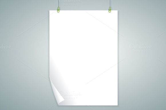Vector White Blank Flat Design