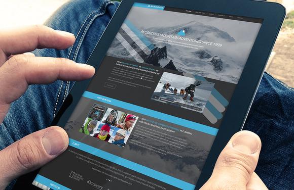 Mountain Modern Website PSD