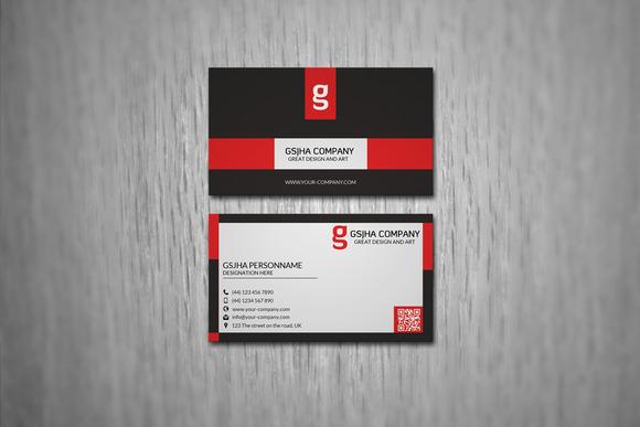 Corporate Minimal Business Card PSD