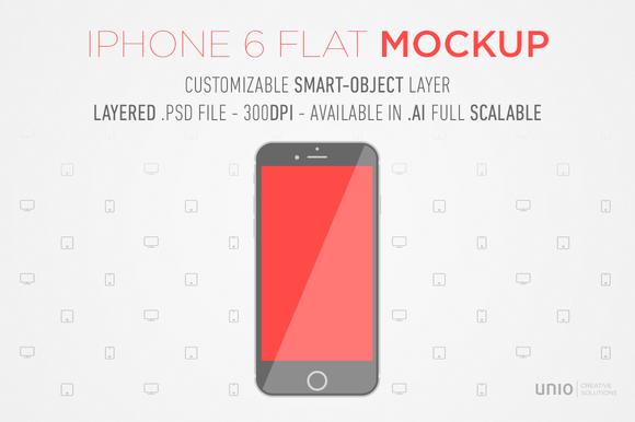 IPhone 6 Flat Mockup