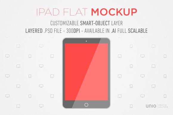 IPad Flat Mockup