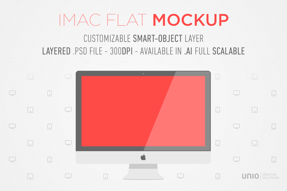 IMac Flat Mockup