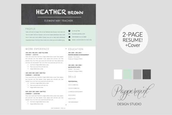 Resume Template Cover Letter WORD